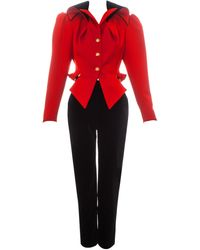 Vivienne Westwood And Black Equestrian Style Pant Suit, Fw 1994 - Red