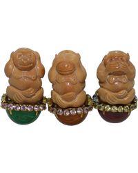 Iradj Moini Hear-no-evil, See-no-evil, Speak-no-evil Monkey Brooch Set - Multicolor