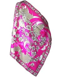 Emilio Pucci Hot Floral Scarf - Pink