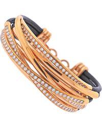 De Grisogono Allegra Rose Gold Diamond Bracelet - Red