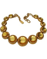 Saint Laurent - Vintage Citrine Cabochon Necklace - Lyst