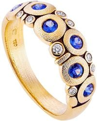 Alex Sepkus Gold And Sapphire Candy Ring - Yellow