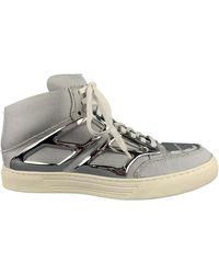 Alejandro Ingelmo Tron Size 8 Metallic Canvas High Top Sneakers