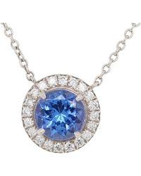 Tiffany & Co. - Platinum Tanzanite Pendant 0.70 Carat - Lyst