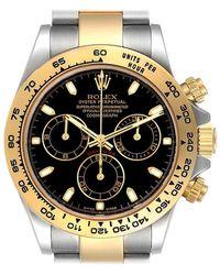 Rolex - Cosmograph Daytona Steel Gold Black Dial Mens Watch 116503 - Lyst