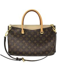 Louis Vuitton Authentic Pallas Monogram Beige Handbag Purse - Brown