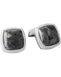 Tateossian - Norwegian Moonstone Silver Cufflinks, Limited Edition - Lyst