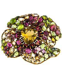 Iradj Moini Large Flower Brooch - Multicolor