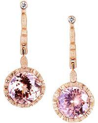Alex Sepkus 18 Karat Gold Sticks And Stones Earrings With Bezel Set Zircon Drops - Multicolor