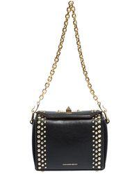 Alexander McQueen Studded Leather Box 16 Shoulder Bag - Black