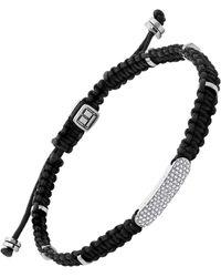 Tateossian Macrame Diamond Baton - Black