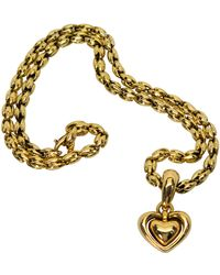 Chimento 18 Karat Gold Double Heart Pendant Enhancer Necklace - Yellow