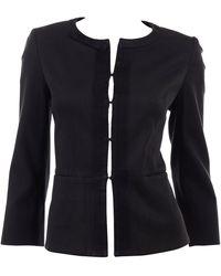 Louis Vuitton Charcoal Gray Cotton Jacket W/ Grosgrain Ribbon Trim