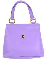 Tiffany & Co. Vintage Leather X Satchel Top Handle Handbag - Purple