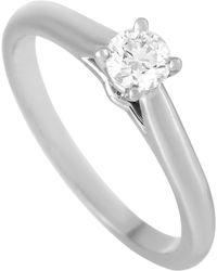 Cartier Solitaire 1895 Platinum 0.23 Carat Diamond Engagement Ring - Metallic