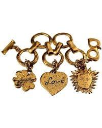 Saint Laurent Vintage Ysl Love By Robert Goossens Sun Clover Heart Charm Br - Metallic