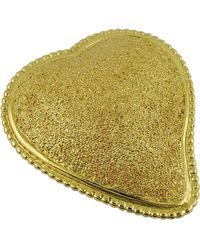 Saint Laurent Ysl Vintage Textured Heart Brooch Pendant - Multicolor