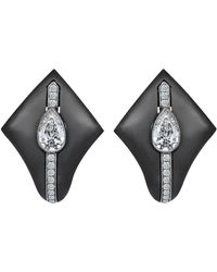 Monan 18 Karat Gold Kingdom 1.05 Carat Diamond Earrings - Black