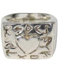 Robert Lee Morris Sterling Silver Heart Ring 1990s - Metallic