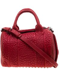 Alexander Wang Leather Small Rockie Satchel - Red