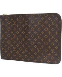 Louis Vuitton Poche Documents Mens Second Bag M53457 - Black