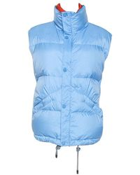 Louis Vuitton Nylon Sleeveless Puffer Jacket Xxl - Blue