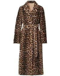 Yves Salomon Yves Saloman Lacon Reversible Leopard Print Shearling Coat - Multicolor