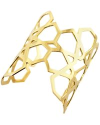 Ralph Masri Arabesque Deco Gold Cuff - Yellow