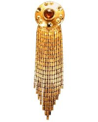 Ben-Amun Goldtone & Faceted Glass Brooch - Metallic