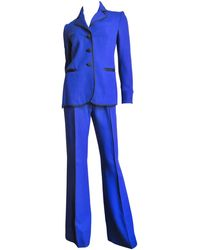 Moschino Pant Suit With Embroidered Eyes In Back - Purple