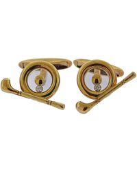 Chopard Happy Diamonds Gold Golf Spinner Cufflinks - Metallic