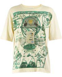 Gianfranco Ferré Gianfranco Ferre Vintage Mens Embroidered T-shirt - Natural