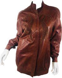 Roberto Cavalli Vintage Leather Jacket - Brown