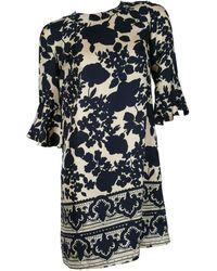 Chloé Floral Silk Print Dress - Black