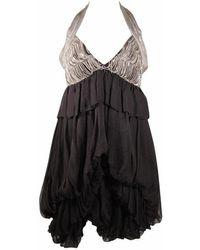 Stella McCartney - Bubble Style Metal Chain Halter Dress Size 40 - Lyst