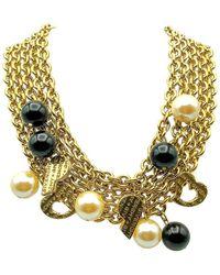 Givenchy Vintage Statement Multi Chain Charm Collar 1990s - Metallic