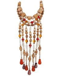 Saint Laurent African Inspired Multi-strand Necklace - Multicolor