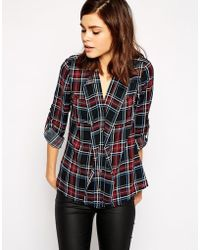 Oasis Multicolor Check Shirt - Lyst