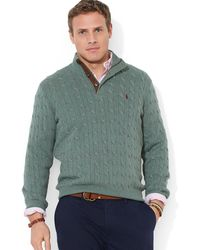 Polo Ralph Lauren Big and Tall Cable Knit Tussah Silk Sweater - Lyst