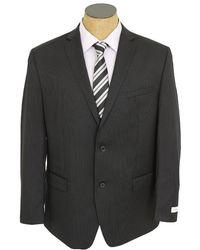 Joseph Abboud Mens Black Pinstripe Wool Suit black - Lyst