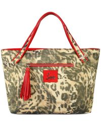 Christian Louboutin Leopard Shopping Tote - Lyst