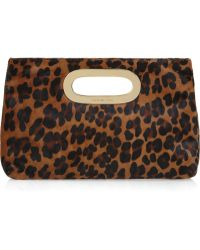 MICHAEL Michael Kors Berkeley Printed Calf Hair Clutch - Lyst