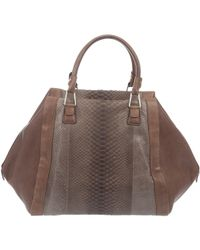 Pauric Sweeney - Large Python/leather Tote - Lyst