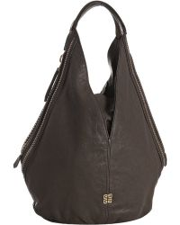 Givenchy Dark Brown Sheepskin Leather Stud Trim Petit Tinhan Tote - Lyst