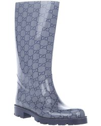 Gucci Monogrammed Wellington Boot - Blue