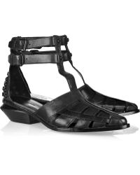 Alexander Wang Jac Leather T-strap Sandals - Lyst