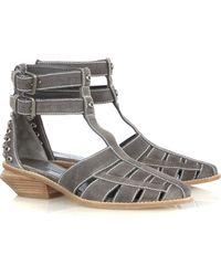 Alexander Wang Jac T-strap Suede Sandals - Lyst