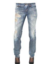 D&G Destroyed Straight Leg Denim Jeans - Lyst