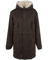 Dolce & Gabbana Sheepskin Parka Coat - Brown