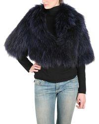 Frame Denim Fox Bolero Fur Coat - Lyst